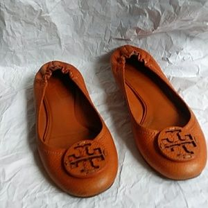 Tory Burch Reva Ballet Flats Pebbled Leather 6.5